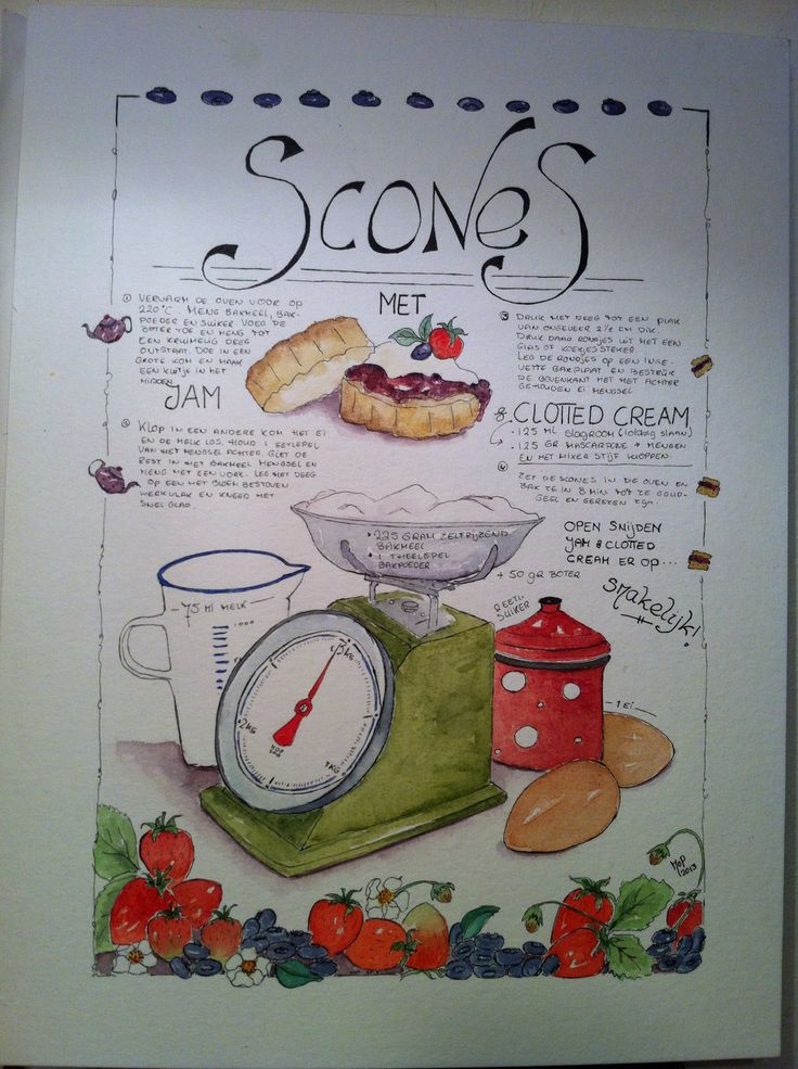 Scones Postersize print Made by MoP
