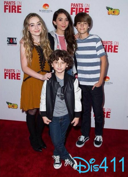 Rowan Blanchard, Sabrina Carpenter, August Maturo and Corey Fogelmanis