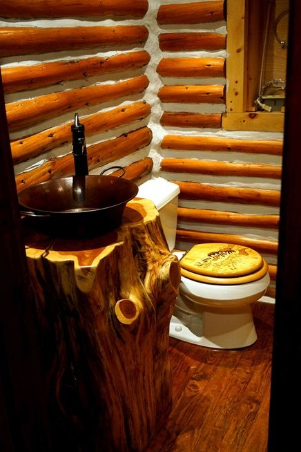 Website Picture Gallery Renovated log cabin bathroom Cabin Life Magazine