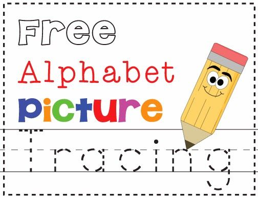 Free Alphabet Picture Tracing Printables Alphabet Pictures Preschool Letters Teaching The Alphabet Learning letters preschool worksheets