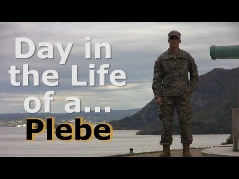 """Day in the Life of a West Point Plebe (Video). """"Plebe"""" is cadet slang for a fourth-class cadet (freshman) at the United States Military Academy at West Point."""