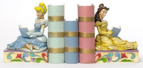 Jim Shore Disney Cinderella And Belle Princess Bookends