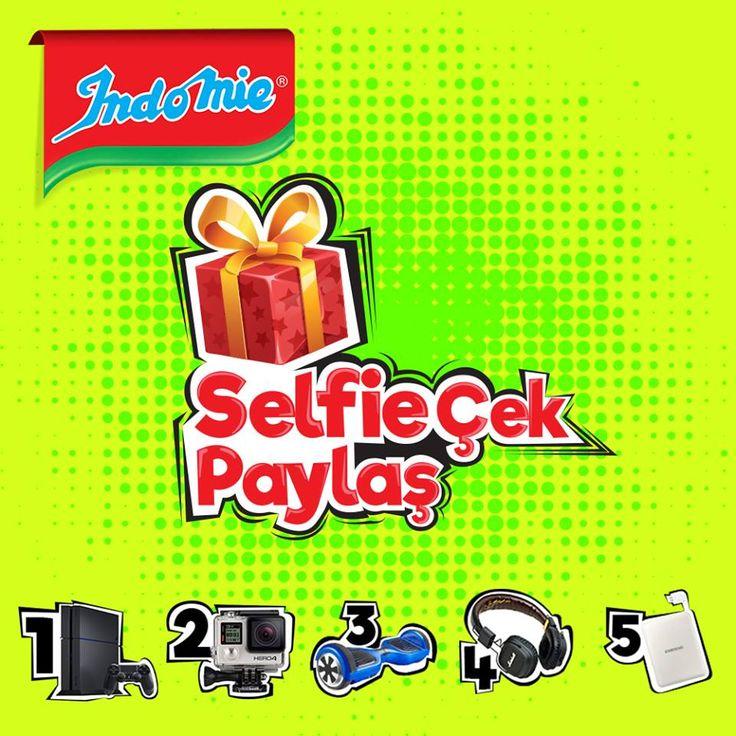 Indomie noodle ile birlikte selfie'ni çek bu paylaşımın altına 25 Nisan 2016 tarihine kadar çektiğin fotoğrafı yorum olarak ekle. Dilerseniz Instagram üzerinden #indomieselfie hashtag ve @indomie_turkiye ile paylaşbilir veya info@adkoturk.com.tr mail adresine mail olarak isim soyisim bilgileriniz ile selfielerinizi gönderebilirsiniz. Dereceye girecek olan fotoğraflardan biri olma şansını yakalayın sürpriz hediyeler kazanın. Daha fazla selfie ekleyerek kazanma şansını artırmayı unutmayın!