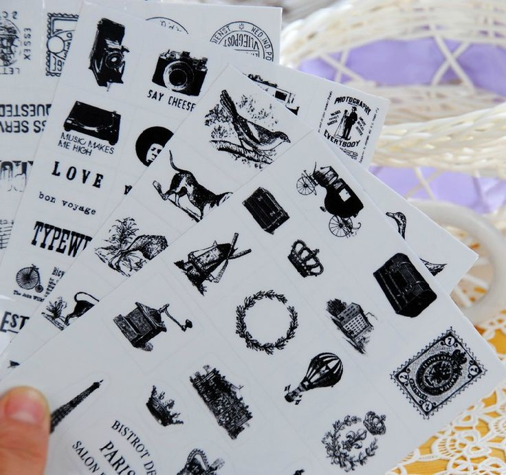 Retro seal pattern transparent diary decorative stickers Tower Hot Air Balloon child DIY toy 6sheets/set #>=#>=#>=#>=#> Click on the pin to check out discount price, color, size, shipping, etc. Save and like it!