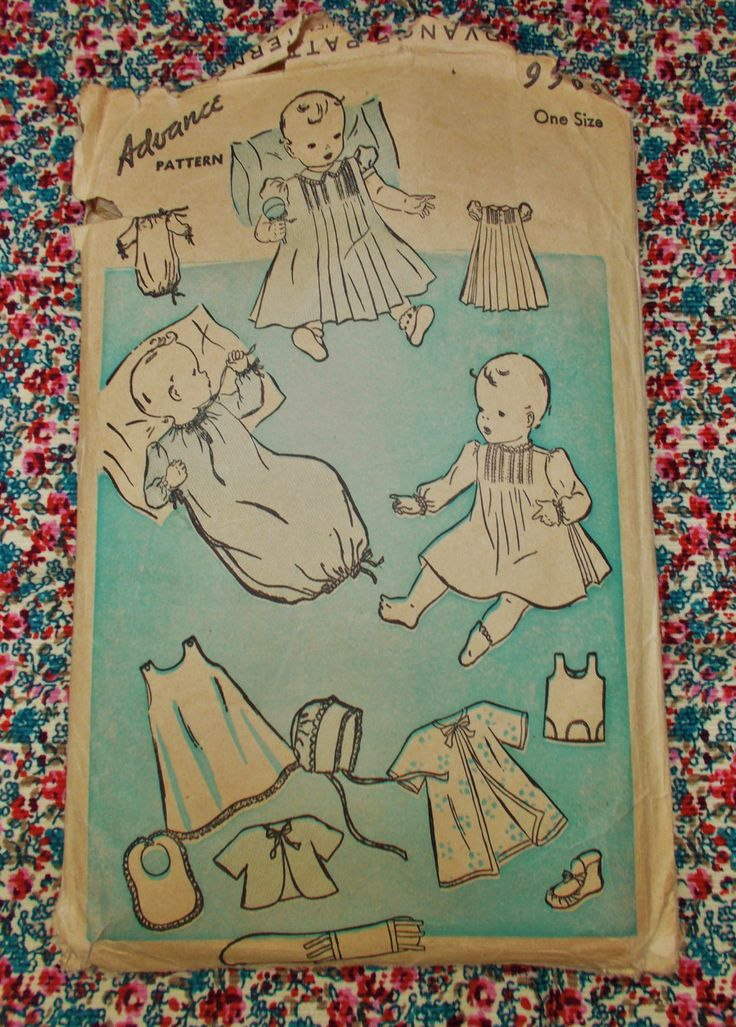 Advance Pattern - Baby's Layette - 0ne Size - 1930's - mpn 9909 - used and complete by MyOverstuffedDrawers on Etsy