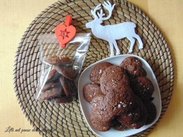 Biscotti al cioccolato e sale di cervia