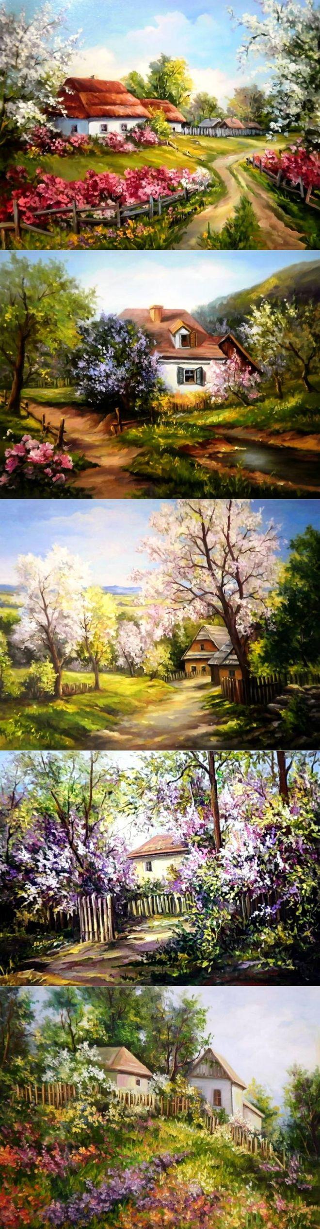 Весенний пейзаж Anca Bulgaru