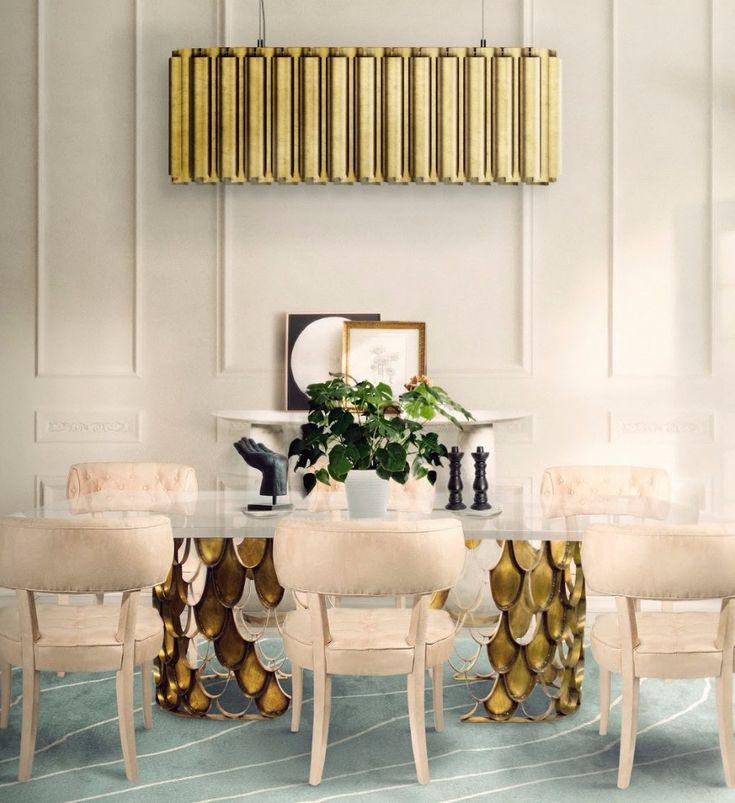 KOI Dining Table | Dining Room Ideas. Dining Room Table. #interiordesign #diningroom #diningroomdesign Find more: https://www.brabbu.com/product/casegoods/koi-dining-table-2