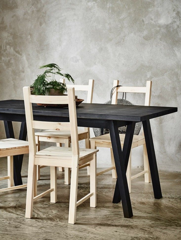Ikea Black Stained Table $179.00   Remodelista