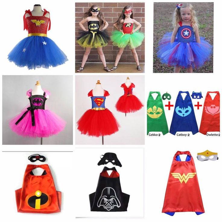 Superhero Tutu Outfits With Cape and Mask! Sale Only $20!! Limited Time!