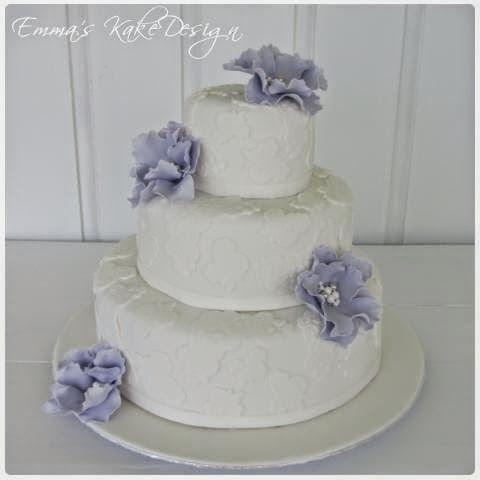 Emmas KakeDesign: Blondekake til bryllup!