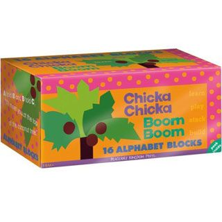 $19.99 -  A told B and B told C, I'll meet you at the top of the coconut tree.rThe favorite children's alphabet book Chicka Chicka Boom Boom becomes interactive in these lively blocks that are perfectly sized for little hands. Read the book and play with the blocks – a terrific combination for learning letters at a young age. The simple graphic art by Lois Ehlert and the sing-song text by Bill Martin, Jr. and John Archambault make this a set that is played with again and again. rInclu...