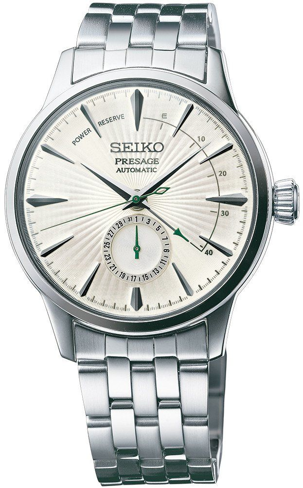 @seikowatches Presage Cocktail Automatic #add-content #basel-17 #bezel-fixed #bracelet-strap-steel #case-depth-14-5mm #case-material-steel #case-width-40-5mm #date-yes #delivery-timescale-call-us #dial-colour-silver #gender-mens #limited-code #luxury #movement-automatic #new-product-yes #official-stockist-for-seiko-presage-watches #packaging-seiko-presage-watch-packaging #power-reserve-yes #price-on-application #style-dress #subcat-presage #supplier-model-no-ssa341 #warran...
