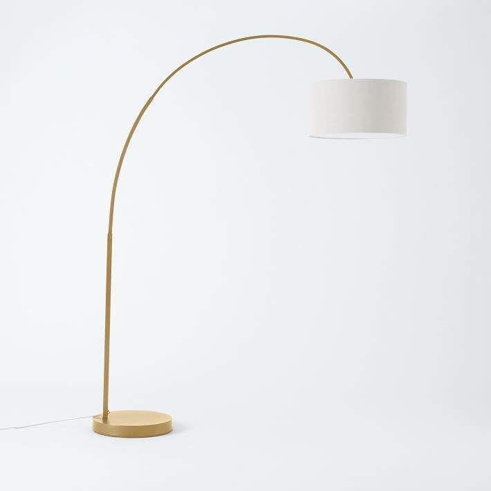 Overarching Metal Shade Floor Lamp en