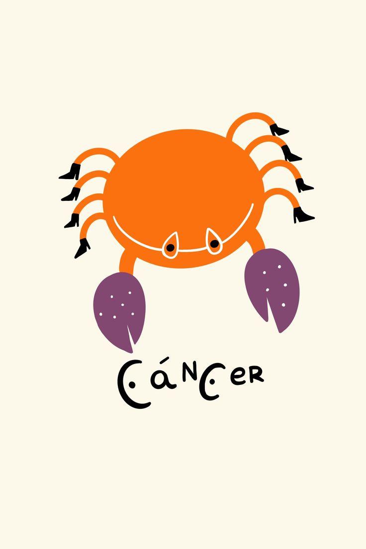 Estas son las predicciones para el mes que empieza para aquellos que nacieron entre el 25 de junio y el 22 de julio Cancer Moon, Tarot Cards, Wall Collage, Horoscope, Zodiac Signs, Stickers, Wallpaper, Posters, Illustrations