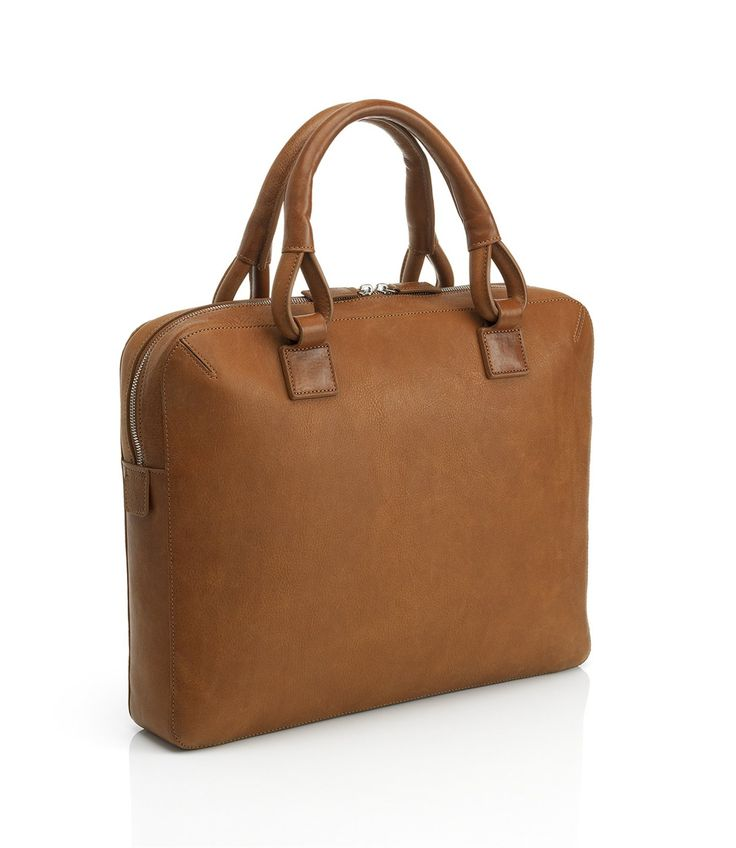 Bladon Tan Single Zip Briefcase - Men's Designer Leather Briefcases, Bags & Luggage - dunhill