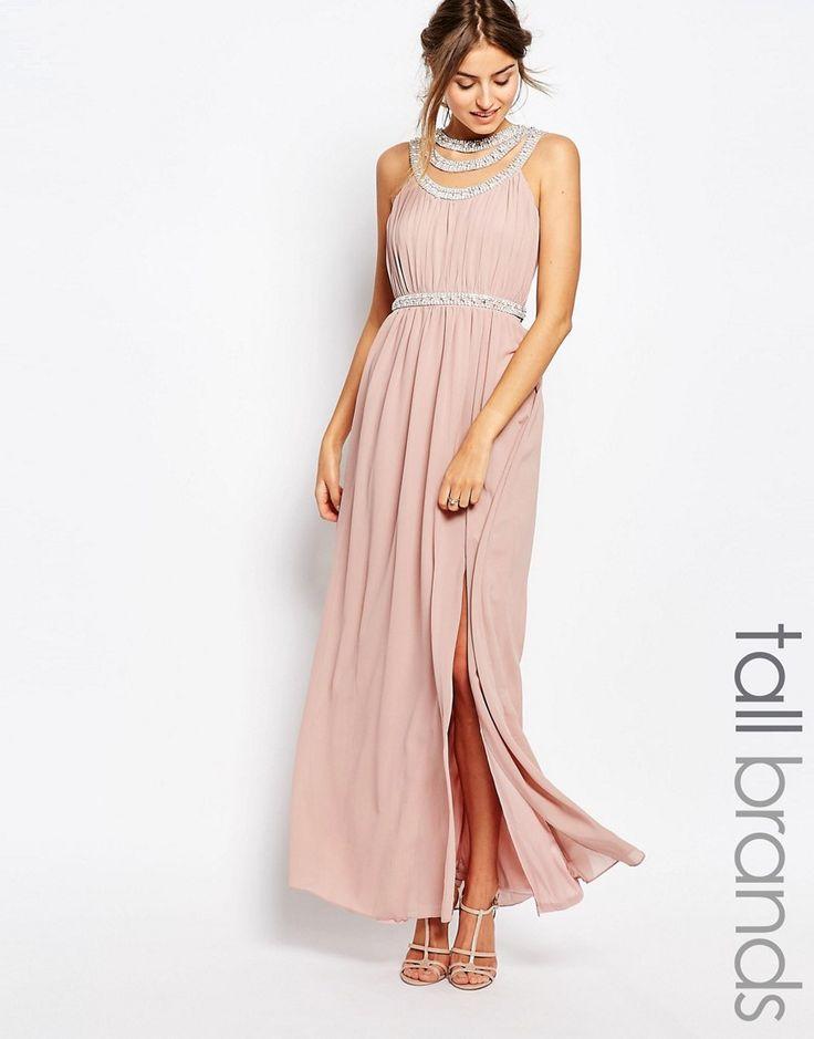 TFNC+Tall+Multi+Row+Embellished+Maxi+Dress