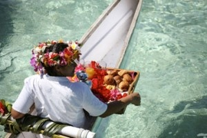 Romance in Tahiti! A traditional canoe breakfast via BeautifulPacific.com