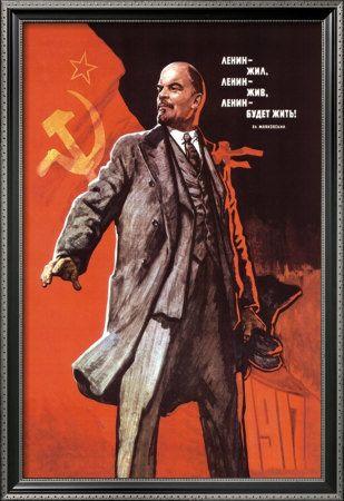 22 - Lenin - Imagem publicitária de Lenin - União Soviética - 1917