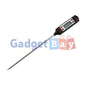 Digital Cooking Food Probe Meat Kitchen BBQ Selectable Sensor Thermometer