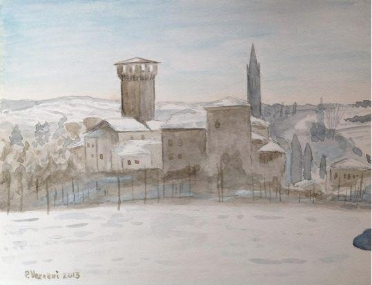 Levizzano -watercolour
