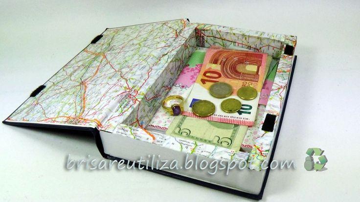 Ecobrisa Reciclaje: Caja secreta en forma de libro