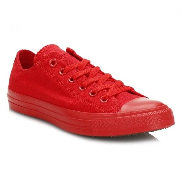 Chuck Taylor All Star Casino Red Trainers ($42) ❤ liked on Polyvore featuring shoes, sneakers, low top canvas sneakers, breathable sneakers, red trainers, red canvas shoes and canvas sneakers