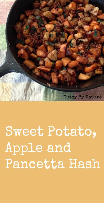 Sweet Potato, Apple and Pancetta Hash - Gutsy By Nature