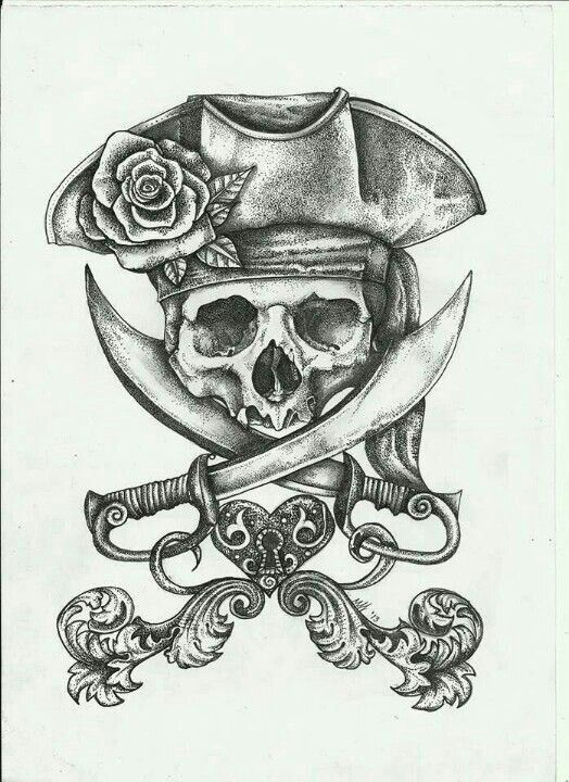 I'm not one for pirate tats but some of you are so here you go.