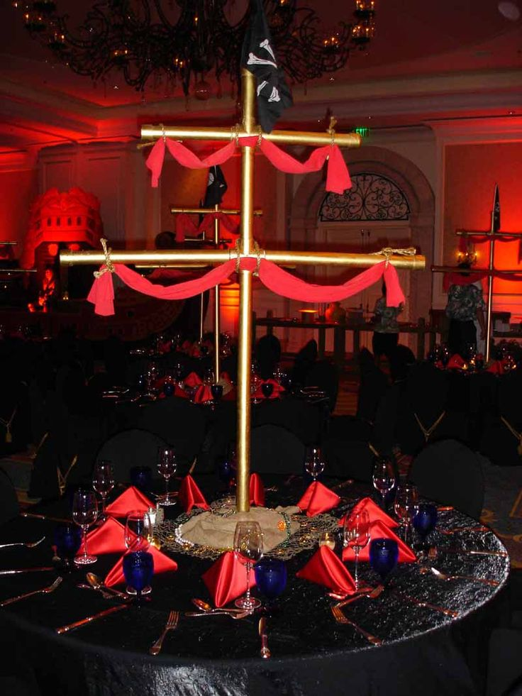 Pirate Mast Centerpiece, perfect for any pirate themed ...