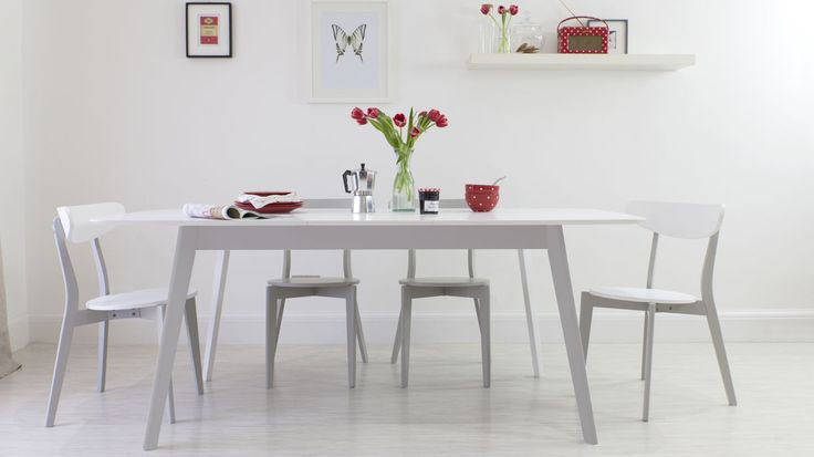 Aver Grey and White Extending Dining Table £369.00