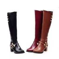 Wish | New fashion Long Boots Women Fashion Soft Leather Women''s Boots Elegant Knee High Boots 2016 Winter Boots Women Comfortable Shoes Women