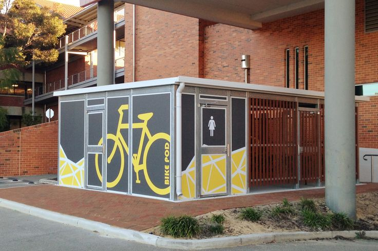 Curtin University, Perth Network of decentralised bicycle parking #curtinuniversity #makecyclingeasy #cycling #endoftrip