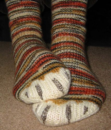 Tiger Toes Socks - Somehow through all my projects, I have never knit a pair of socks. Perhaps these will be my first.