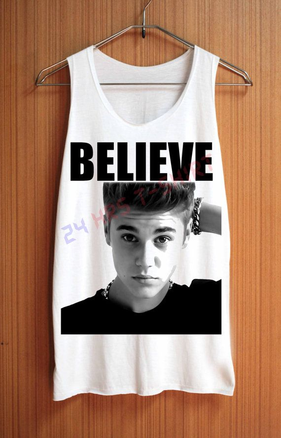 JUSTIN BIEBER Shirt Top Tank Top Tee Tunic Singlet by 24hrsTShirt