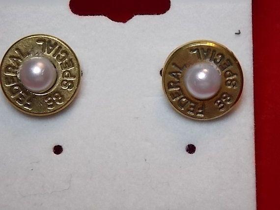 Jewelry  Stud Earrings Shot gun shell Bullets by AnnieGetUGun, $19.95