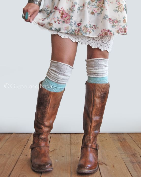 Grace and Lace Slouch Boot Socks-Teal #wildebelleboutique FREE Shipping over $100!
