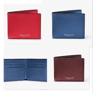 c38f67b3ed10e2 NWT MICHAEL MICHAEL KORS Men Harrison Leather Slim Billfold Wallet ...
