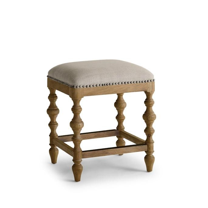 Campbell Carved Backless Counter Stool 24 With Images Counter