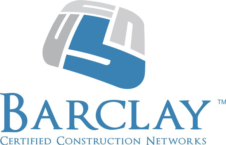 Barclay Certified Construction Networks Logo #logoexample #logo #logodesign