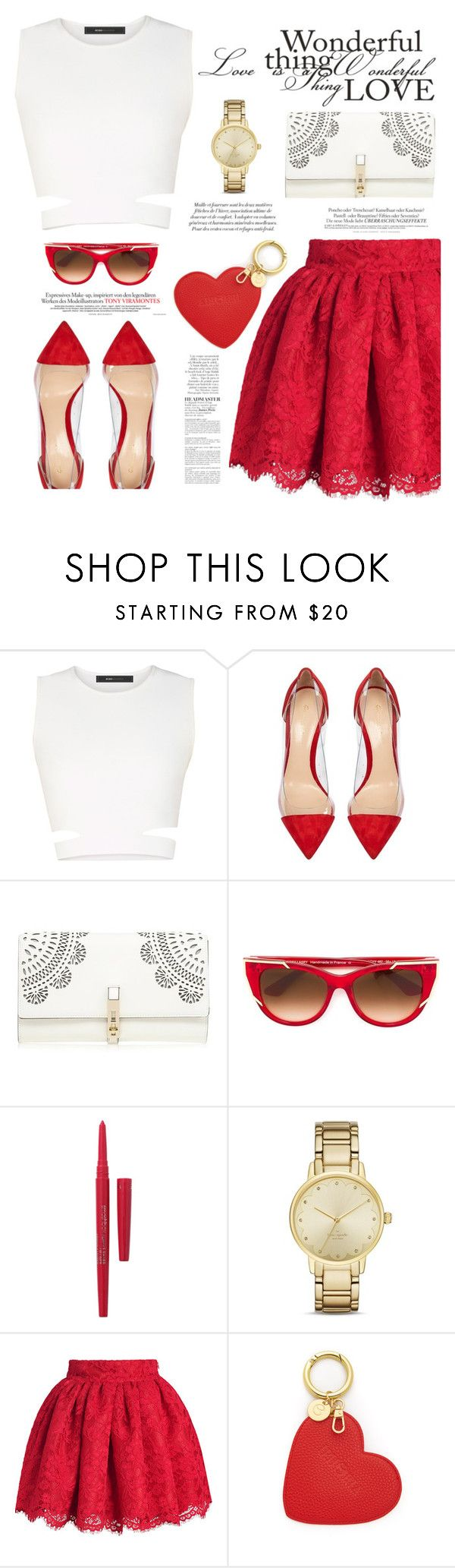 """♡ Pilsen liberation festival ♡"" by teryblueberry on Polyvore featuring BCBGMAXAZRIA, Gianvito Rossi, Lipsy, Thierry Lasry, Smashbox, Melissa, Kate Spade, Iphoria and Anja"