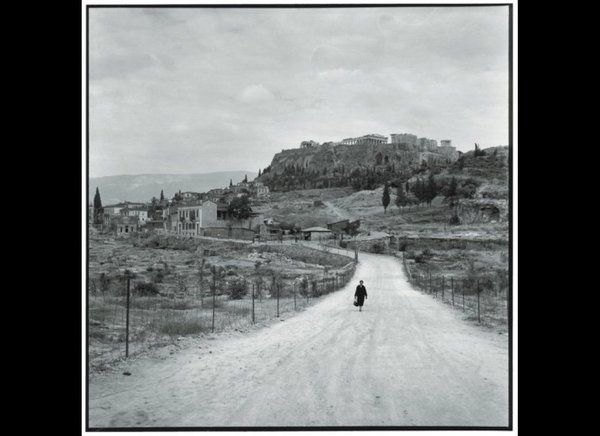 Athens 1955. The Agora and the Acropolis from Observatory Road. Robert McCabe.
