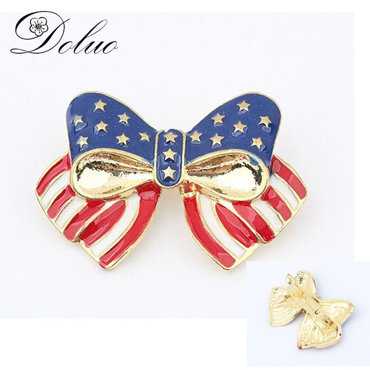 Cheap brooch pins, Buy Quality bow tie brooch directly from China tie brooch Suppliers: Alloy Enamel Bow tie Brooch American Flag Pin brooch PIN for July 4th Jewelry