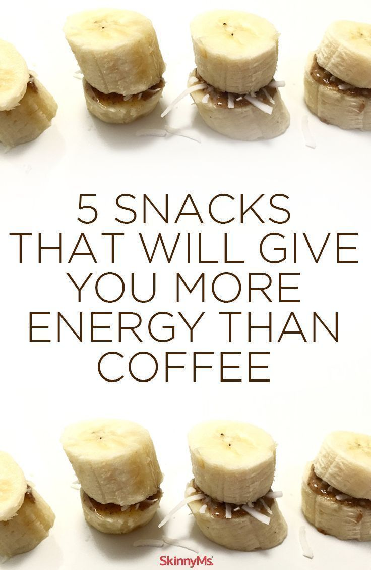 5 Snacks that Will Give You More Energy than Coffee! #skinnyms #snacks #cleaneating
