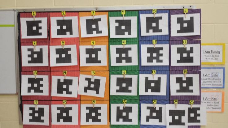 Love this way of hanging class Plickers!