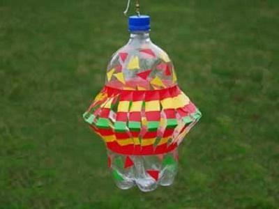 Вертушка из пластиковой бутылки.