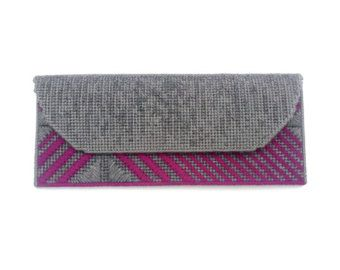 Needlepoint clutch / explosion by CresusArtisanat on Etsy