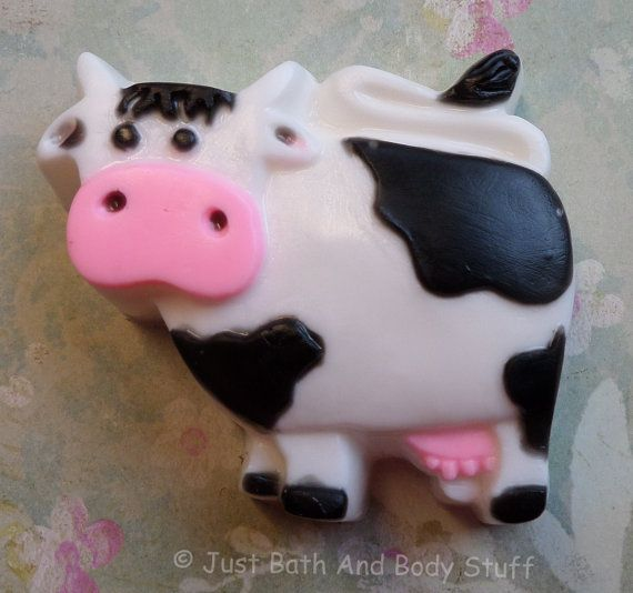 COW Soap Bar Farm Holstein Dairy Cattle Handcrafted Glycerin