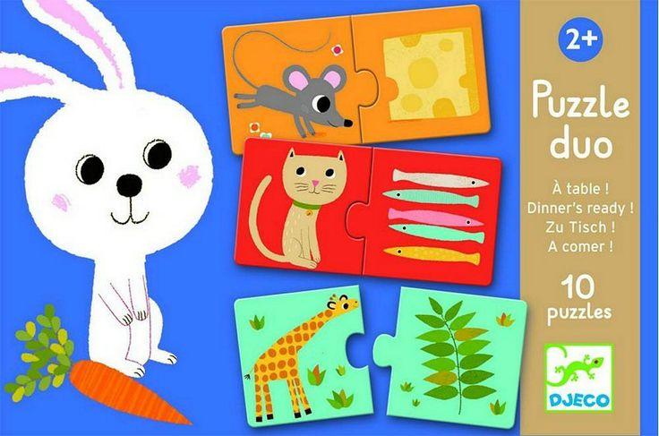 DJECO Puzzle duo - Co jedí zvířátka