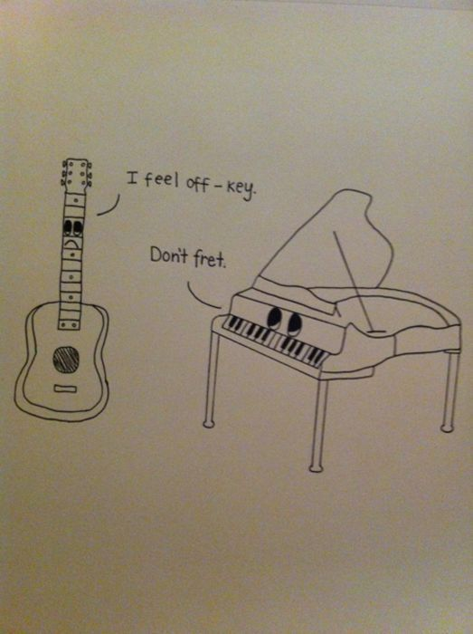 if only guitars and pianos could talk.